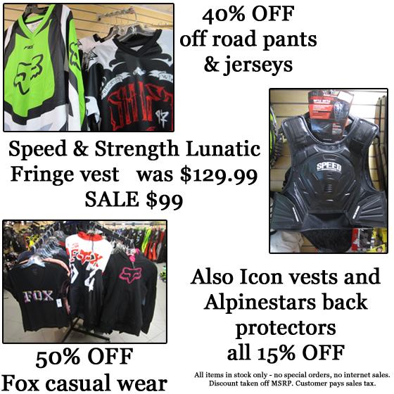 off road gear sale